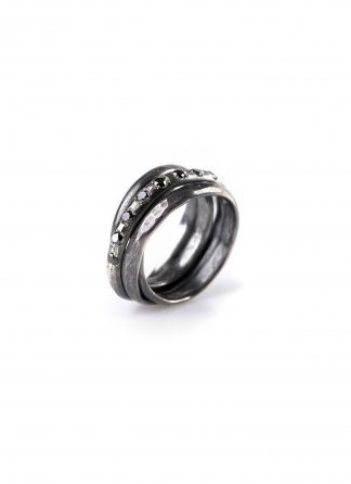 CHIN TEO ring cage mini diamond jewelry jewellery schmuck sterling silver 925 dark oxidised diamant hide m 1