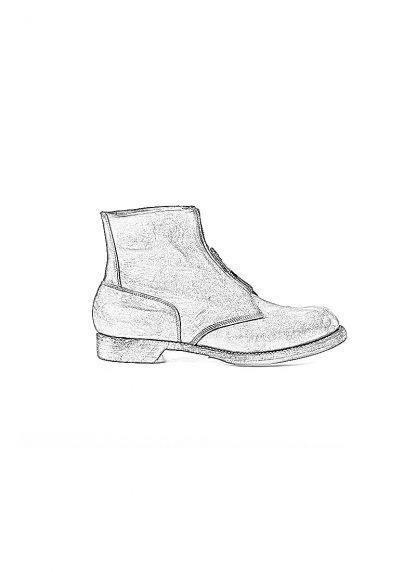 GUIDI 5305FZ men goodyear front zip shoe boot herren schuh stiefel culatta horse leather black hide m 1