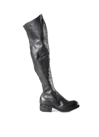 GUIDI PL4 women tall over knee front zip boot shoe damen frauen schuh stiefel horse leather black hide m 2