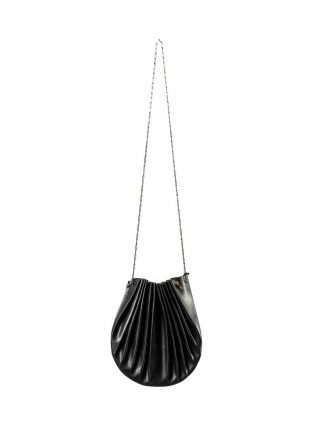 M.A Maurizio Amadei B703S women shell bag damen frauen tasche silver chain vachetta cow leather black hide m 2
