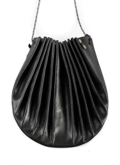 M.A Maurizio Amadei B703S women shell bag damen frauen tasche silver chain vachetta cow leather black hide m 3