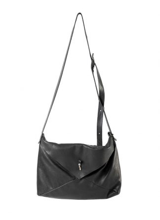 M.A Maurizio Amadei BE153 15zoll Envelope Messenger Shoulder Bag washed cow leather black hide m 2