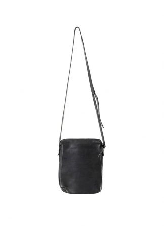 M.A Maurizio Amadei BP21 2 pocket messenger Shoulder Bag vachetta cow leather black hide m 2