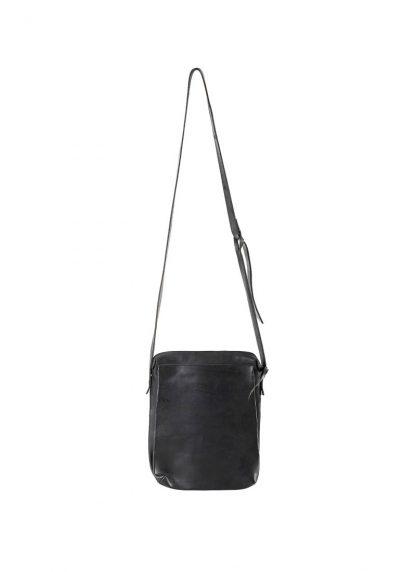 M.A Maurizio Amadei BP21 2 pocket messenger Shoulder Bag vachetta cow leather black hide m 2