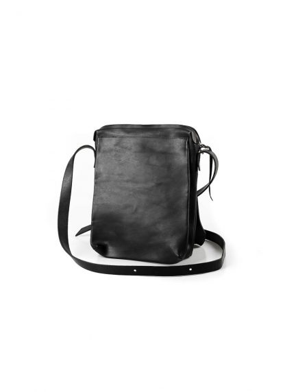 M.A Maurizio Amadei BP21 2 pocket messenger Shoulder Bag vachetta cow leather black hide m 3