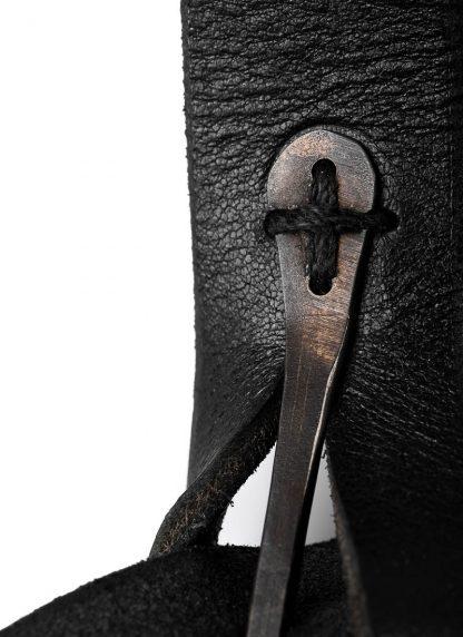 M.A Maurizio Amadei BP21 2 pocket messenger Shoulder Bag vachetta cow leather black hide m 7