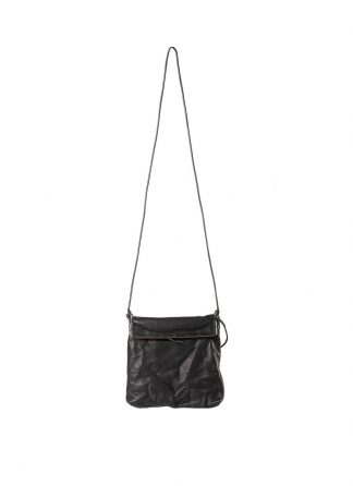 M.A Maurizio Amadei BR123S silver rim small messager bag washed cow leather black hide m 2
