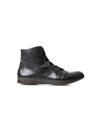 mmoriabc maurizio altieri CCC Sei men hand made sneaker shoe herren schuh destroyed horse leather black hide m 3