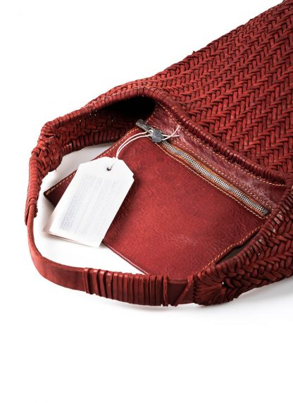 GUIDI AN5 woven bag tasche handtasche calf leather red hide m 4