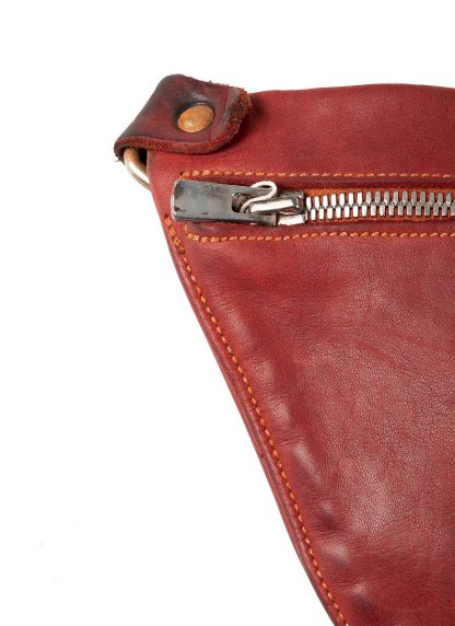 GUIDI Q10 small shoulder bag tasche horse leather 1006T red hide m 3