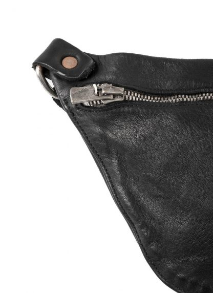 GUIDI Q10 small shoulder bag tasche horse leather black hide m 3