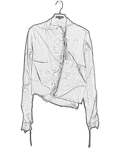 LEON EMANUEL BLANCK DIS W BMB 01 S250 Women Distortion Bomber Jacket Damen Frauen Jacke silk black hide m 1