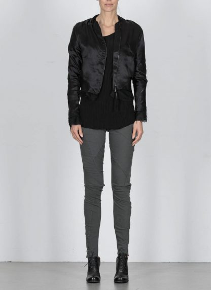 LEON EMANUEL BLANCK DIS W BMB 01 S250 Women Distortion Bomber Jacket Damen Frauen Jacke silk black hide m 3
