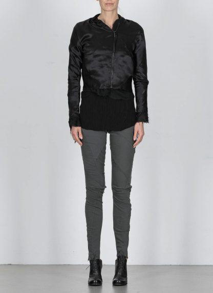 LEON EMANUEL BLANCK DIS W BMB 01 S250 Women Distortion Bomber Jacket Damen Frauen Jacke silk black hide m 4