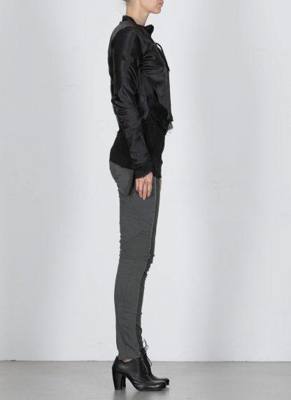LEON EMANUEL BLANCK DIS W BMB 01 S250 Women Distortion Bomber Jacket Damen Frauen Jacke silk black hide m 5