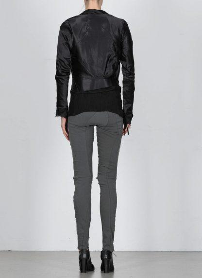 LEON EMANUEL BLANCK DIS W BMB 01 S250 Women Distortion Bomber Jacket Damen Frauen Jacke silk black hide m 6