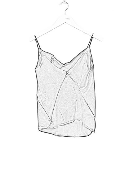 LEON EMANUEL BLANCK DIS W ST 01 S90 Women Distortion String Top Negligee Damen Frauen silk black hide m 1