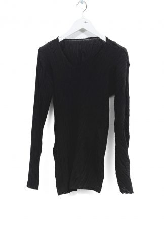 LEON EMANUEL BLANCK DIS W VLT 01 Women Distortion V Long Sleeve Tee Damen Frauen Sweater cotton silk black hide m 2