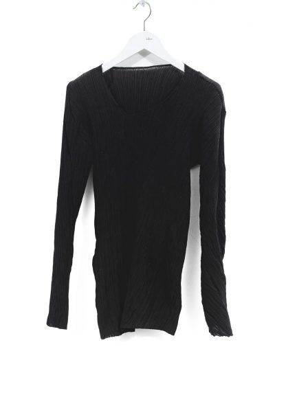 LEON EMANUEL BLANCK DIS W VLT 01 Women Distortion V Long Sleeve Tee Damen Frauen Sweater cotton silk black hide m 2
