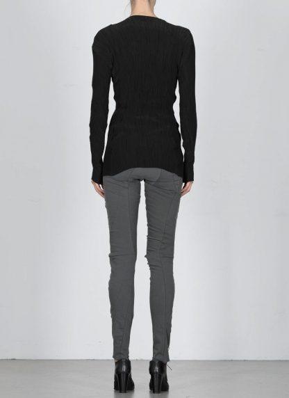 LEON EMANUEL BLANCK DIS W VLT 01 Women Distortion V Long Sleeve Tee Damen Frauen Sweater cotton silk black hide m 5