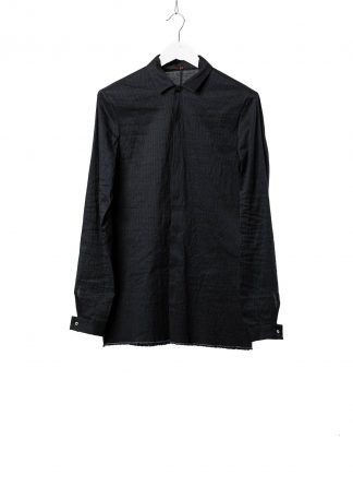 M.A Macross Maurizio Amadei Men Fitted Shirt H102 LCES Herren Hemd Linen Cotton Elastan dark blue black hide m 2