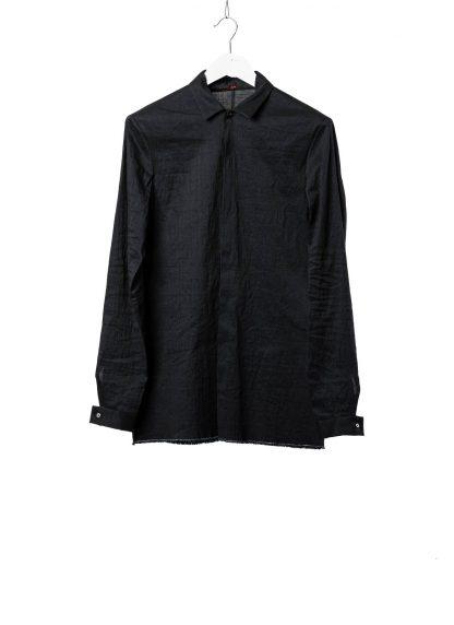 M.A Macross Maurizio Amadei Men Fitted Shirt H102 LCES Herren Hemd Linen Cotton Elastan dark blue black hide m 2