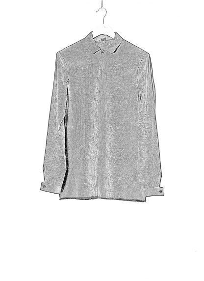 M.A Macross Maurizio Amadei Men Fitted Shirt H102 LCES Herren Hemd Linen Cotton Elastan dark blue stripes black hide m 1