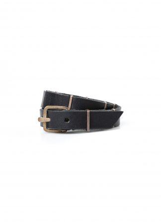 M.A macross Maurizio Amadei A F4B2 Wristband Bracelet Armband silver cow leather black hide m 2