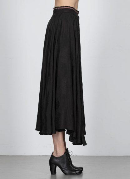 MA Macross Maurizio Amadei K600 CUFL Women Long Wheel Skirt Damen Rock Cupro Black hide m 4