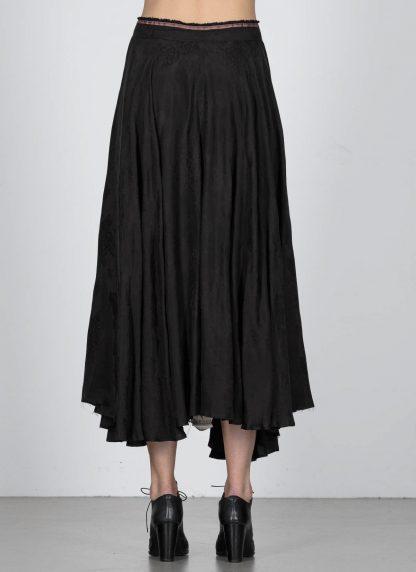 MA Macross Maurizio Amadei K600 CUFL Women Long Wheel Skirt Damen Rock Cupro Black hide m 5