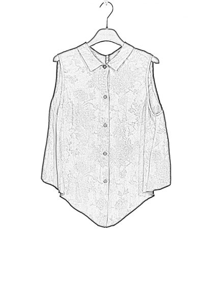 MA Macross Maurizio Amadei W20A CUFL Women Medium Fit Sleevless Shirt Damen Hemd Top Cupro Black hide m 1