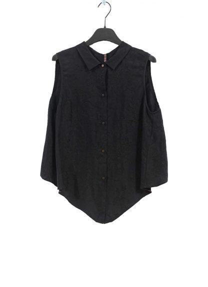 MA Macross Maurizio Amadei W20A CUFL Women Medium Fit Sleevless Shirt Damen Hemd Top Cupro Black hide m 2