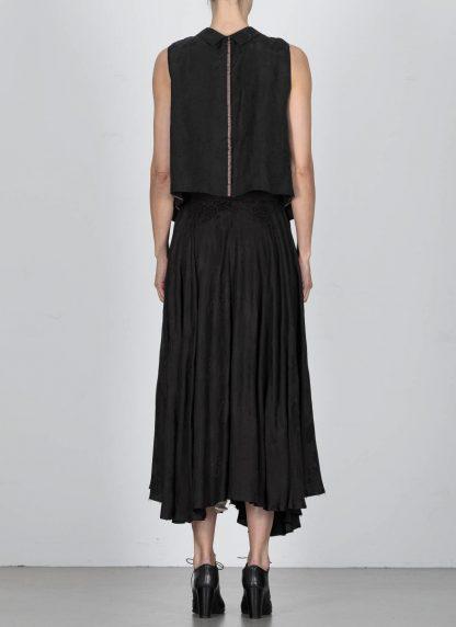 MA Macross Maurizio Amadei W20A CUFL Women Medium Fit Sleevless Shirt Damen Hemd Top Cupro Black hide m 5
