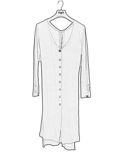 MA Macross Maurizio Amadei Women HW330L VIS5 Oversize V Neck Extra Long Shirt Damen Hemd viscose black hide m 1