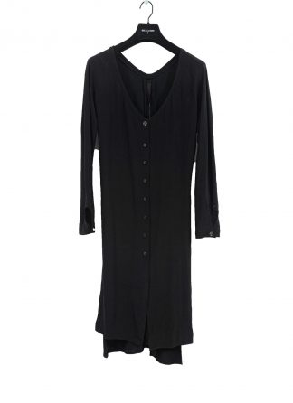 MA Macross Maurizio Amadei Women HW330L VIS5 Oversize V Neck Extra Long Shirt Damen Hemd viscose black hide m 2