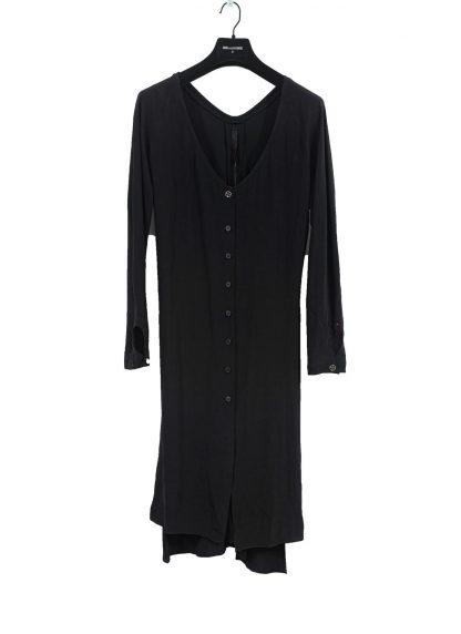 MA Macross Maurizio Amadei Women HW330L VIS5 Oversize V Neck Extra Long Shirt Damen Hemd viscose black hide m 2