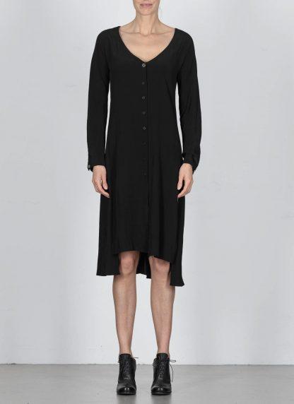 MA Macross Maurizio Amadei Women HW330L VIS5 Oversize V Neck Extra Long Shirt Damen Hemd viscose black hide m 3
