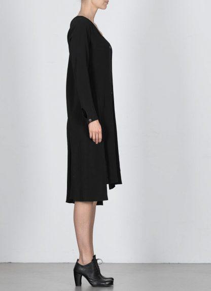 MA Macross Maurizio Amadei Women HW330L VIS5 Oversize V Neck Extra Long Shirt Damen Hemd viscose black hide m 4