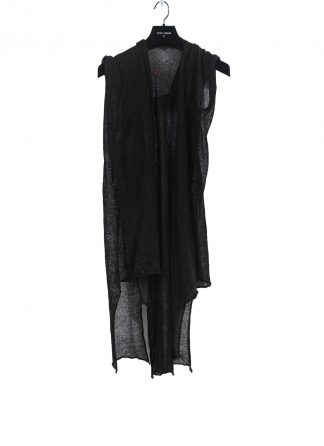 MA Macross Maurizio Amadei Women NCW326B FH Knitted Hooded Long Gilet Cardigan Damen Frauen canapa hemp black hide m 2