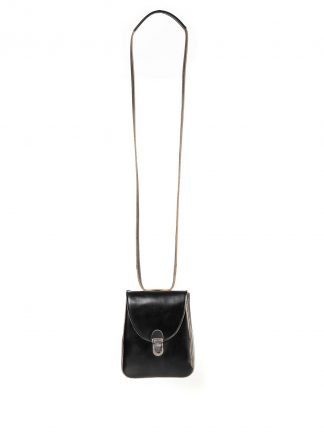 CHEREVICHKIOTVICHKI women 46AW18 tiny lock bag with long strap damen tasche horse leather black hide m 2