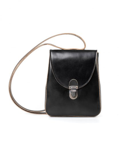 CHEREVICHKIOTVICHKI women 46AW18 tiny lock bag with long strap damen tasche horse leather black hide m 3