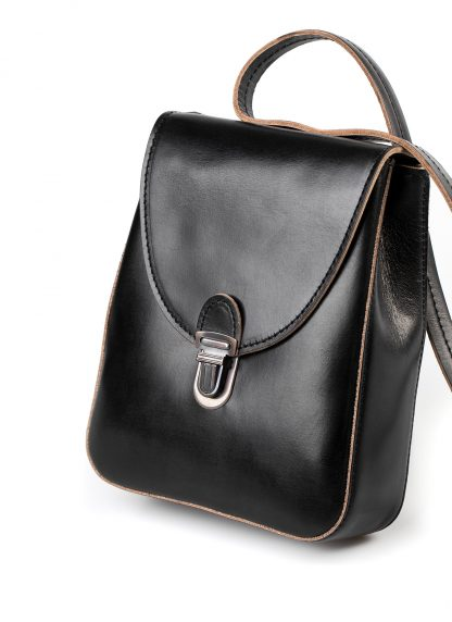 CHEREVICHKIOTVICHKI women 46AW18 tiny lock bag with long strap damen tasche horse leather black hide m 5