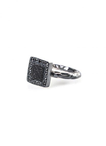 GUIDI women G AN02DN Ring black diamonds black leather 925 sterling silver hide m 1