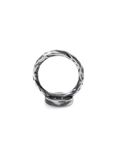 GUIDI women G AN03 Ring black leather 925 sterling silver hide m 2