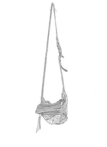 LEON EMANUEL BLANCK distortion dealer bag men women tasche DIS M DBS 01 python leather dark grey hide m 1