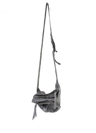 LEON EMANUEL BLANCK distortion dealer bag men women tasche DIS M DBS 01 python leather dark grey hide m 2 web