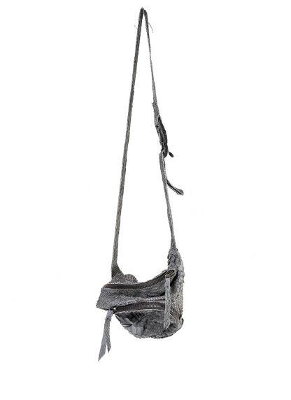LEON EMANUEL BLANCK distortion dealer bag men women tasche DIS M DBS 01 python leather dark grey hide m 2 web