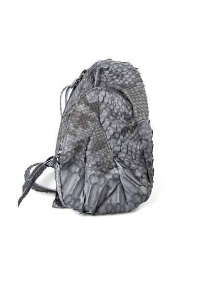 LEON EMANUEL BLANCK distortion dealer bag men women tasche DIS M DBS 01 python leather dark grey hide m 3