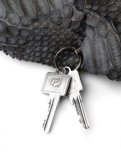 LEON EMANUEL BLANCK distortion dealer bag men women tasche DIS M DBS 01 python leather dark grey hide m 5