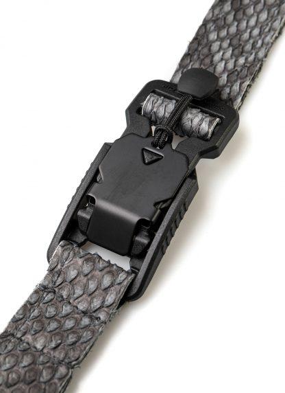 LEON EMANUEL BLANCK distortion dealer bag men women tasche DIS M DBS 01 python leather dark grey hide m 6